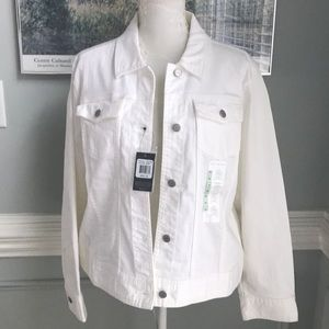 White Jean Jacket by The Limited Classic NWT XL
